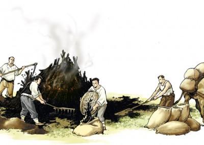 Transporte del carbón