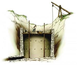 Elur zuloa eraikitzea