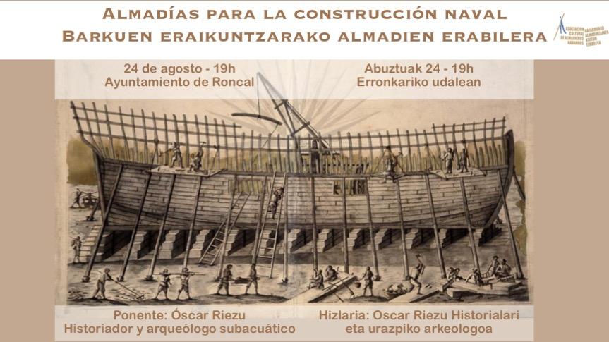 Almadías para la construcción naval